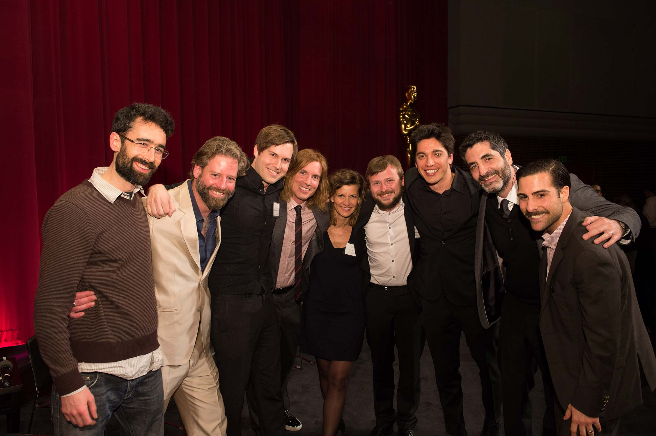 The filmmakers with host Jason Schwartzman.