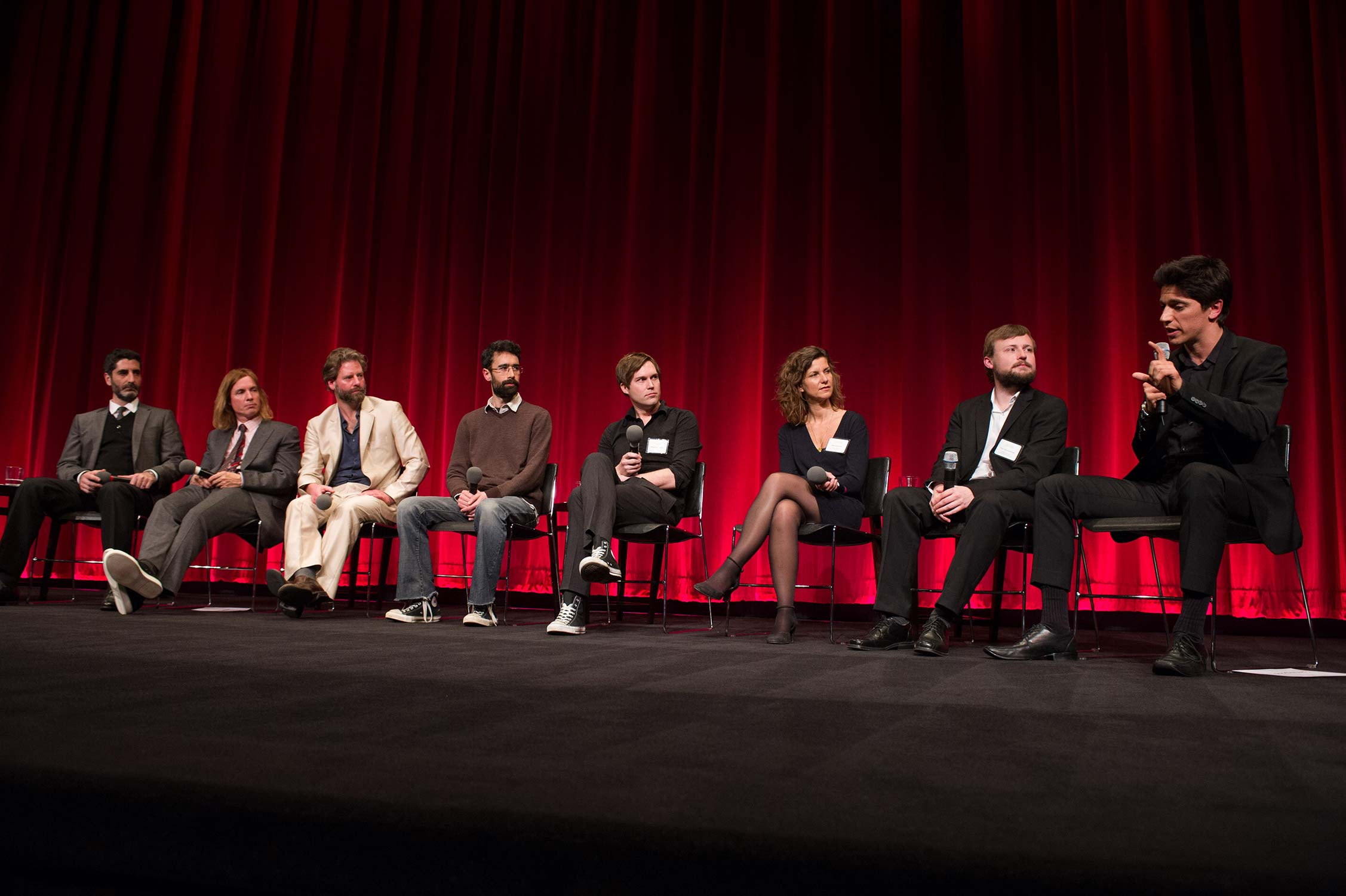 The panelists with host Jason Schwartzman.