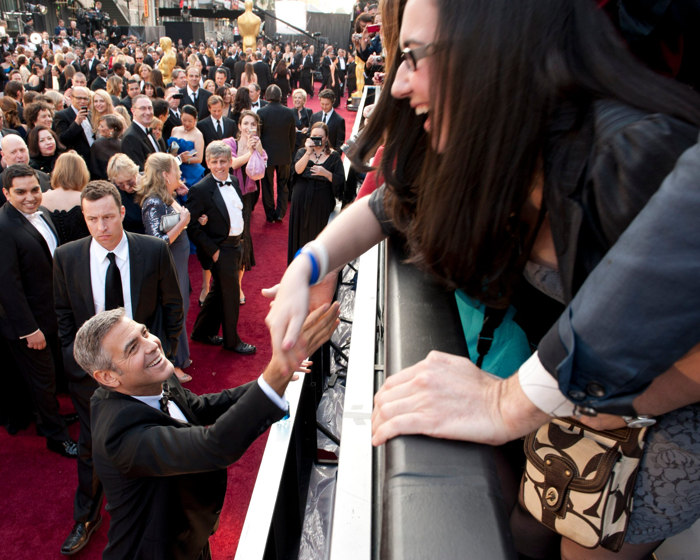 George Clooney, Oscar®-nominee for Performance by an Actor in a Leading Role and Adapted Screenplay, arrives.