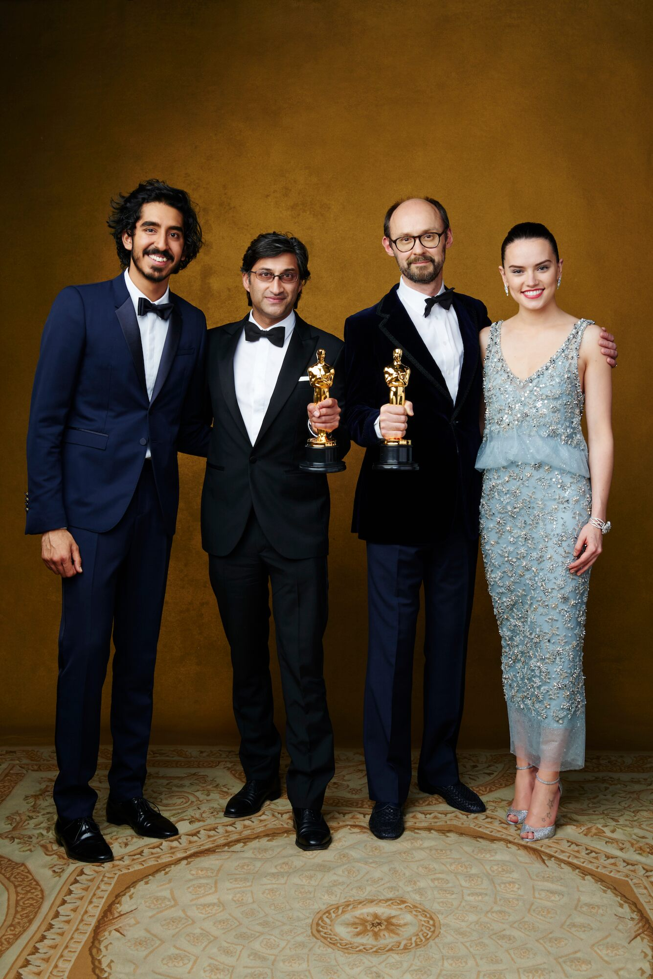 Documentary (Feature), with presenters Dev Patel and Daisy Ridley