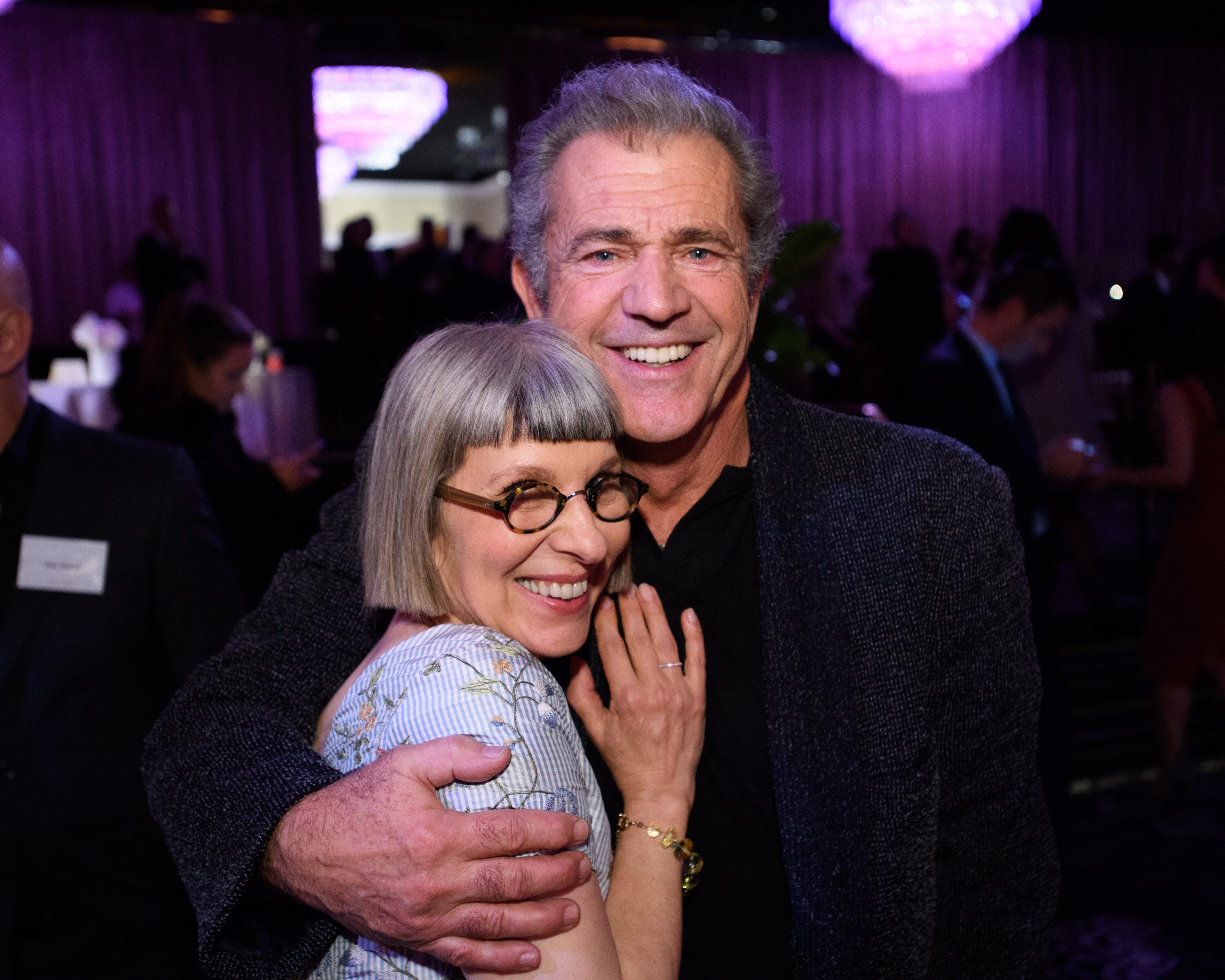 Academy Governor Lois Burwell and Oscar nominee Mel Gibson