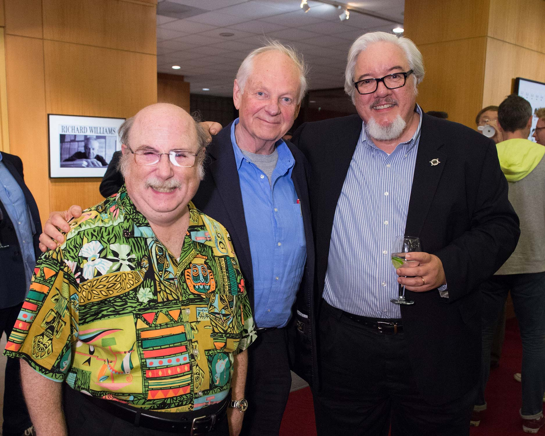 Animator Eric Goldberg (left), Oscar®-winning animator Richard Williams (center) and animator Tom Sito