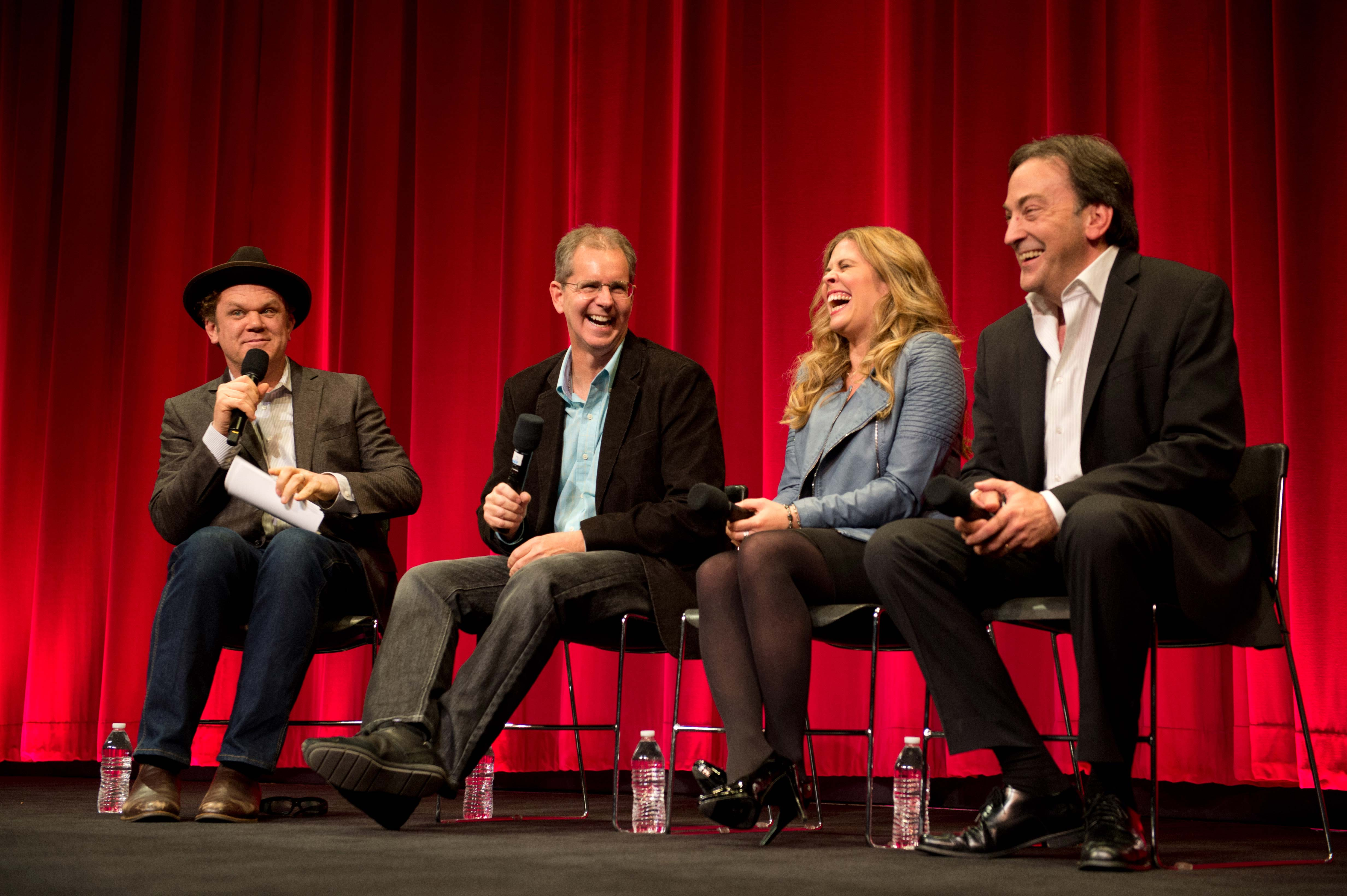 """John C. Reilly, host of """"Animated Features 2014,"""" with filmmakers of Frozen"""