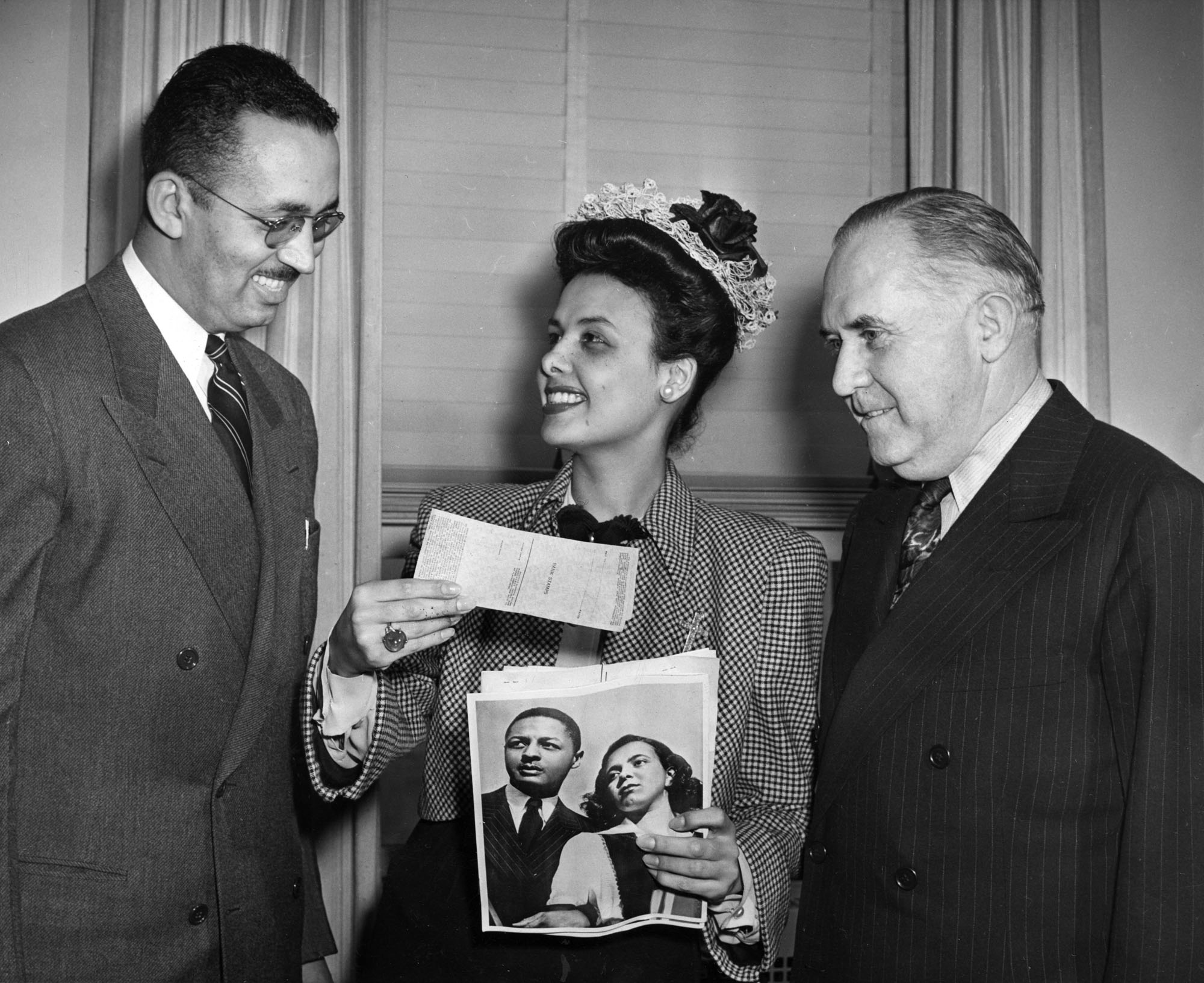 Lena Horne, William Trent Jr. and Thomas A. Morgan