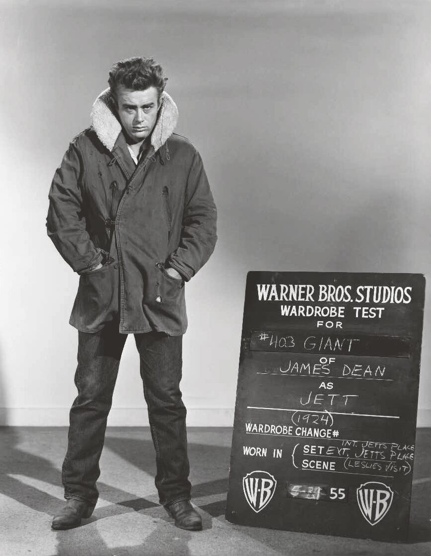 James Dean in a wardrobe test for Giant (1956)