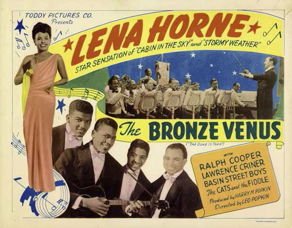 Lobby card featuring Lena Horne in The Duke Is Tops (1938), later released as The Bronze Venus