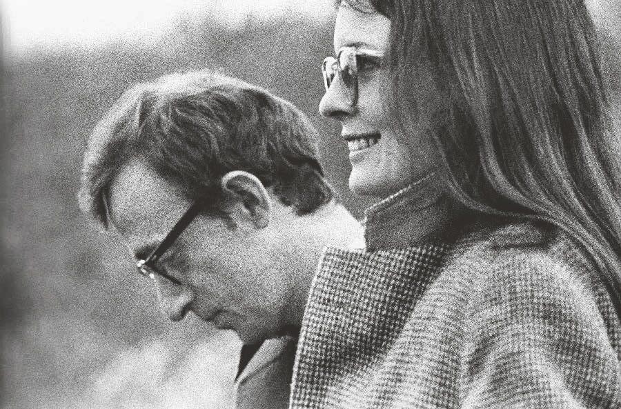Woody Allen and Diane Keaton in a scene from Annie Hall (1977)