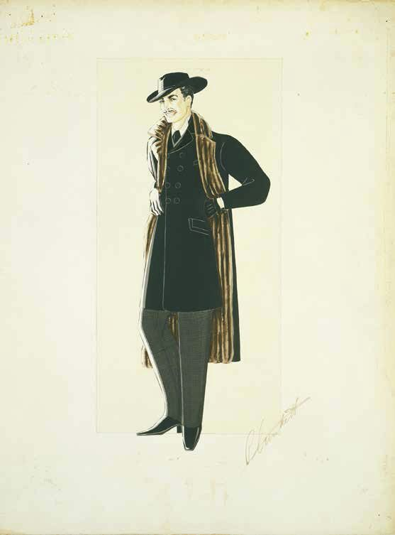 "Costume design drawing for ""Gone with the Wind"""