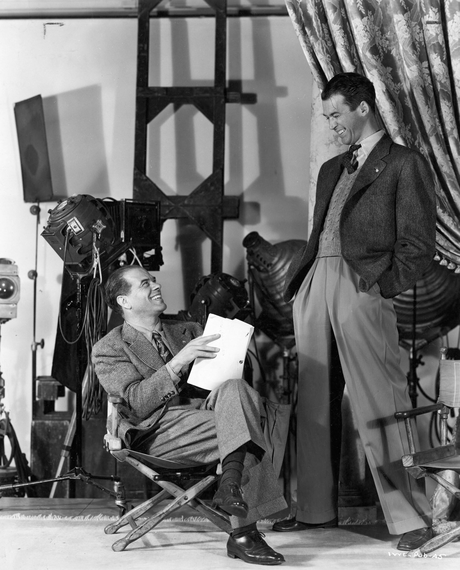 On the set of It's a Wonderful Life