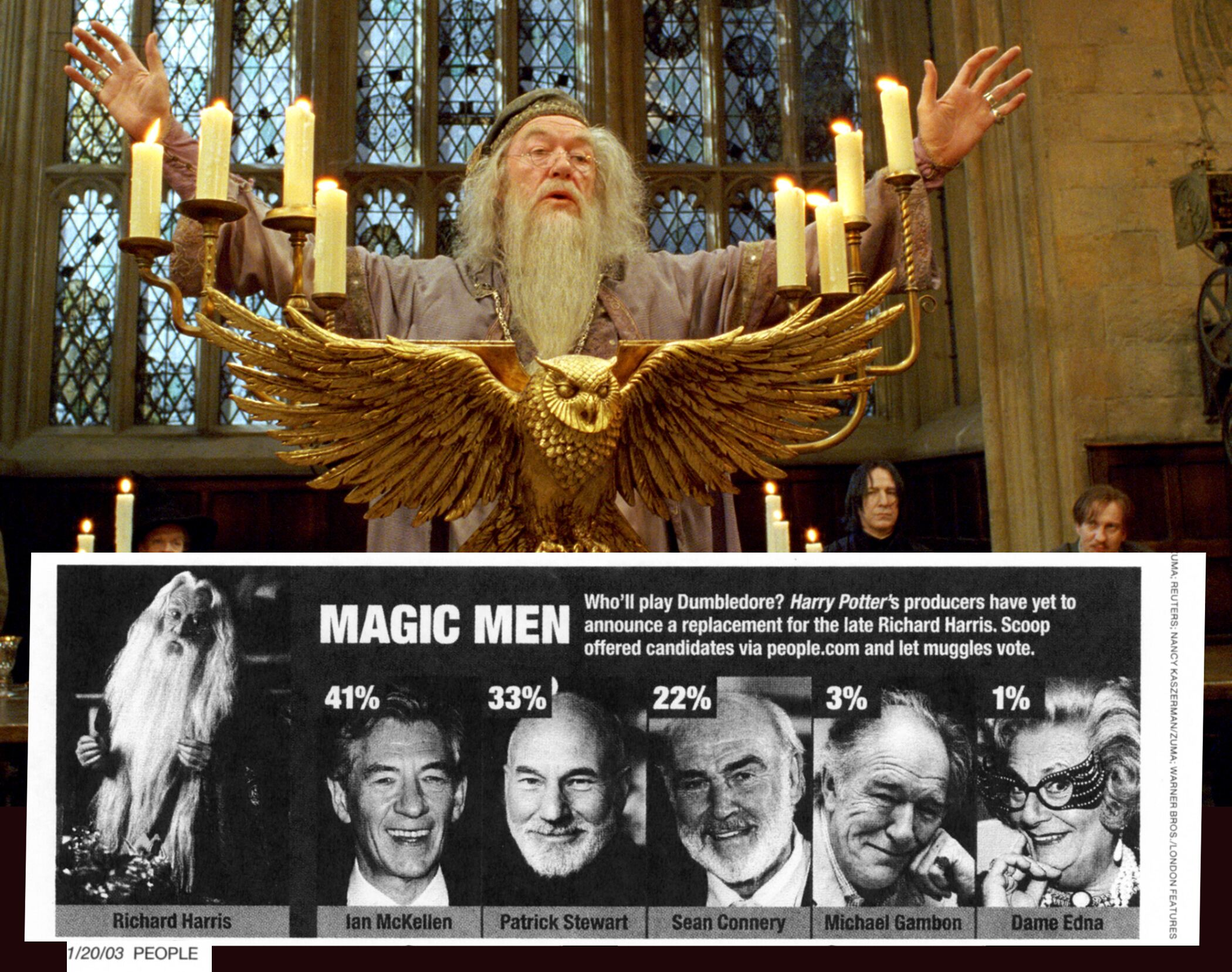 Played by actors Richard Harris and Michael Gambon in the Harry Potter series