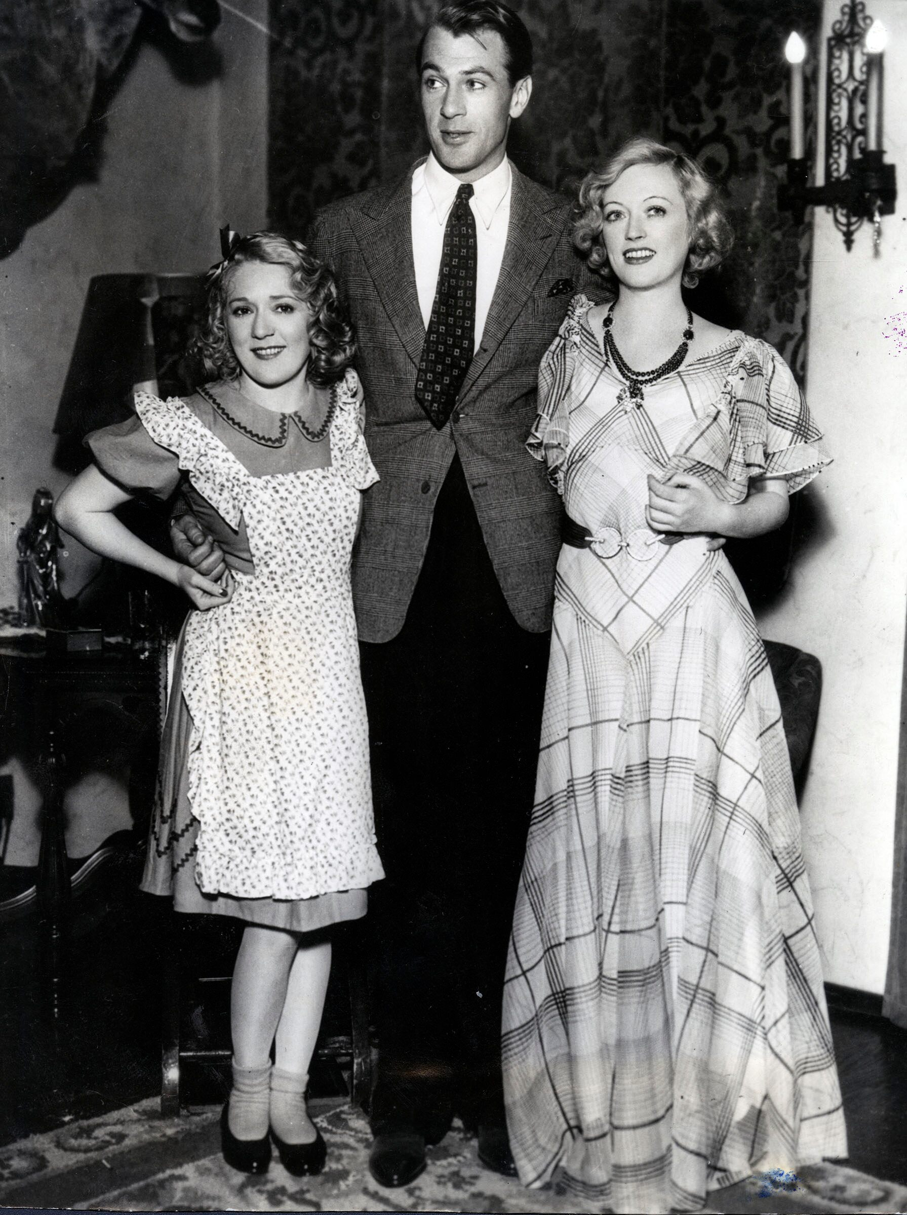 with Gary Cooper and Marion Davies