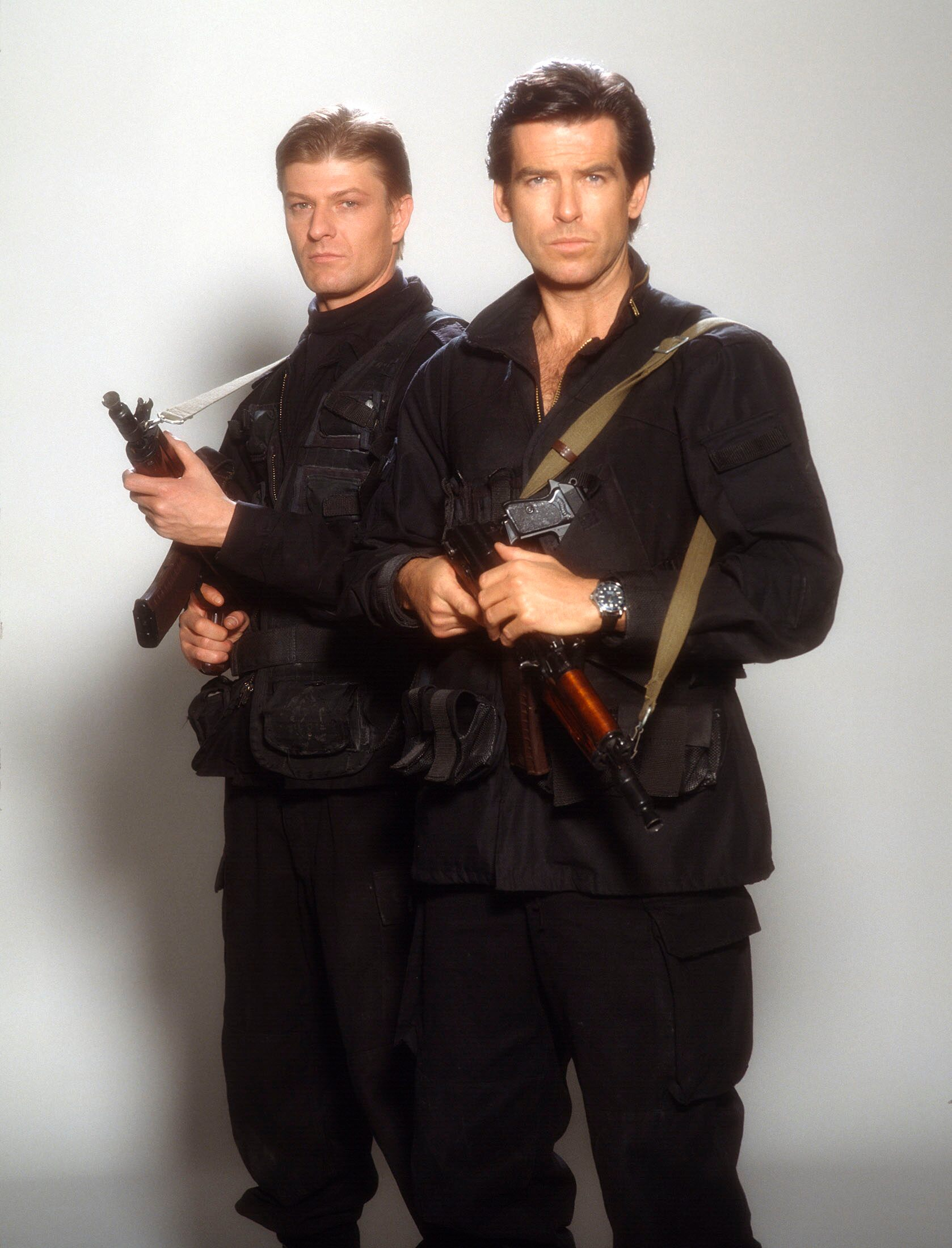 Pierce Brosnan and Sean Bean