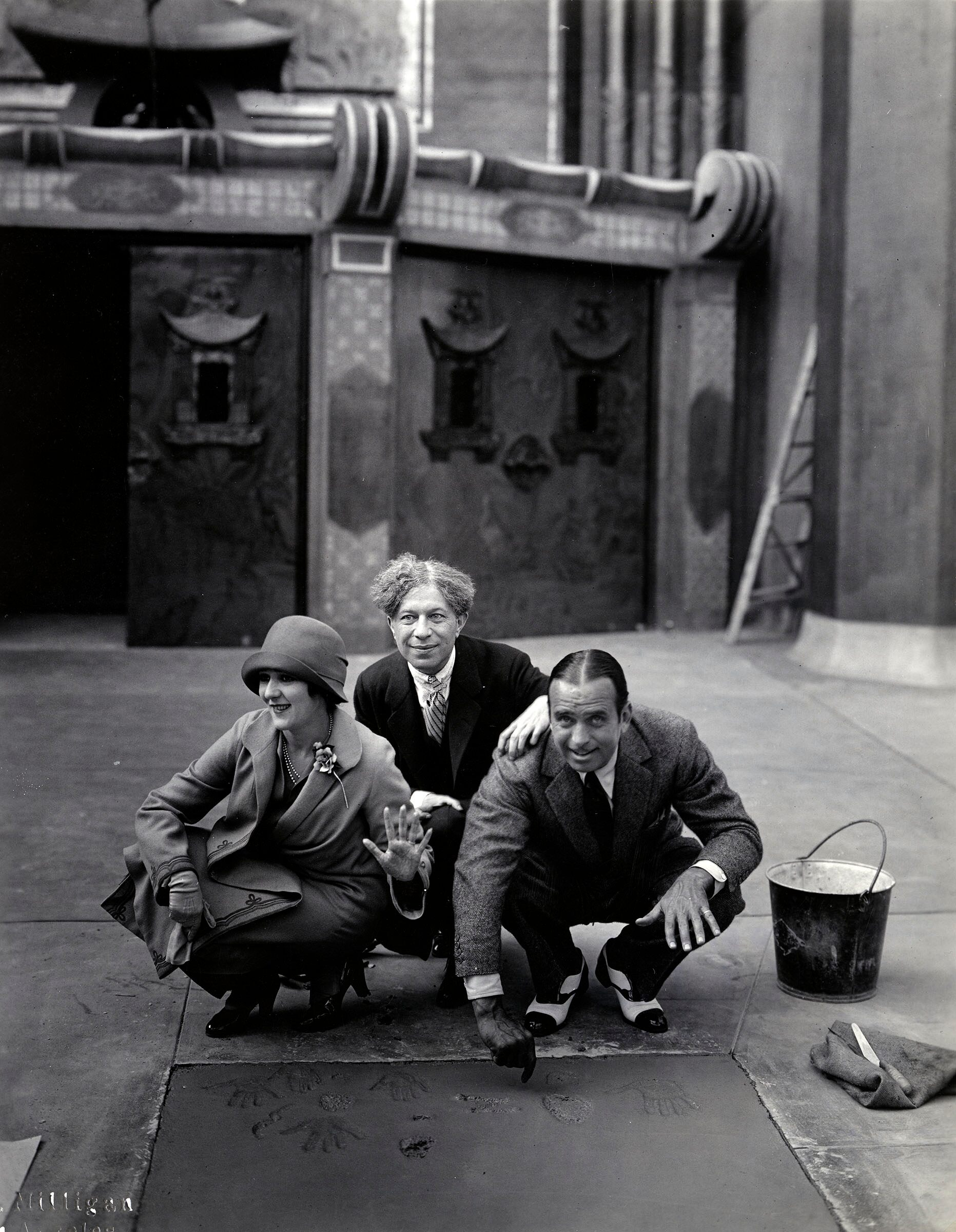 Mary Pickford, Sid Grauman, and Douglas Fairbanks