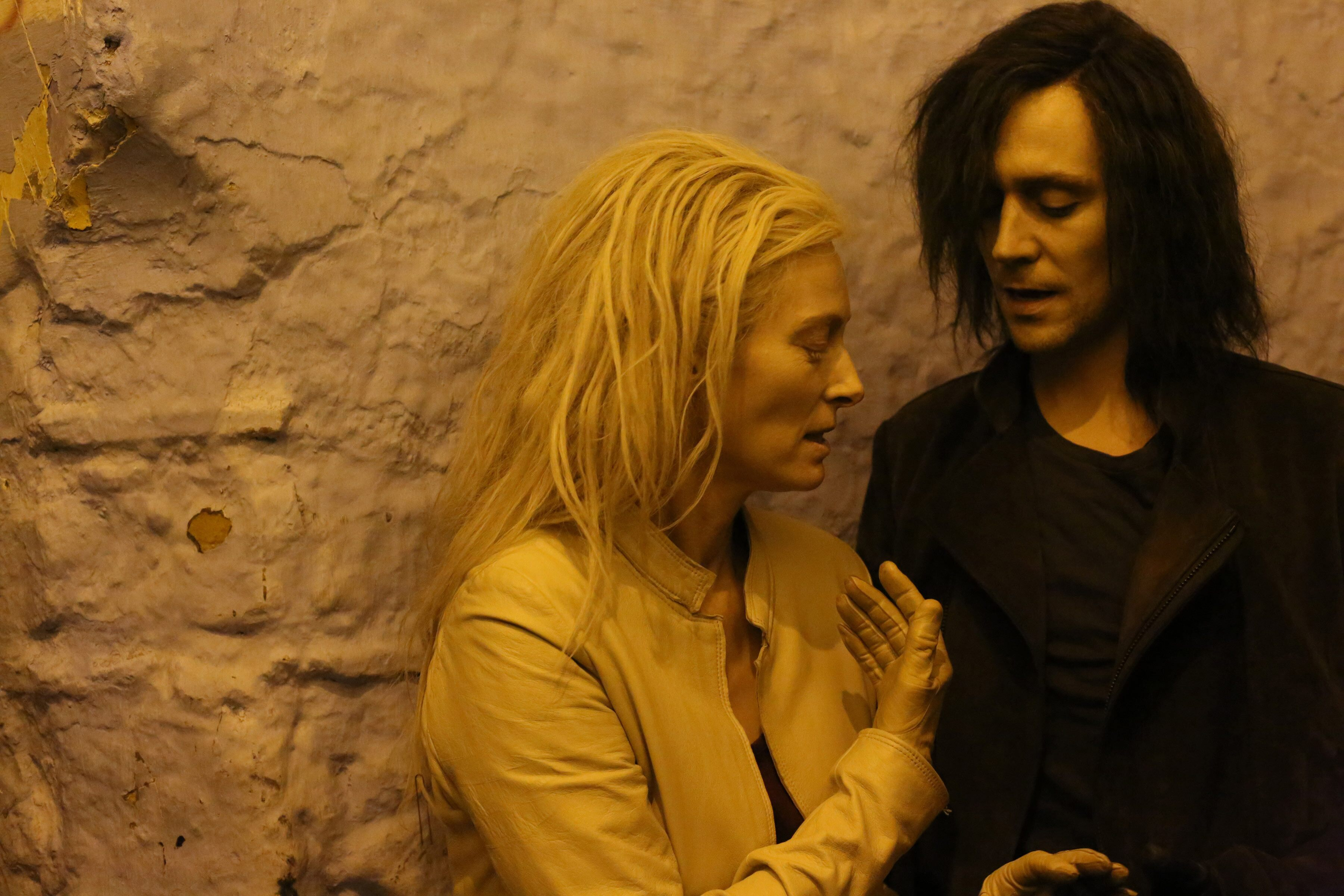 Tilda Swinton and Tom Hiddleston, in ONLY LOVERS LEFT ALIVE (2013)