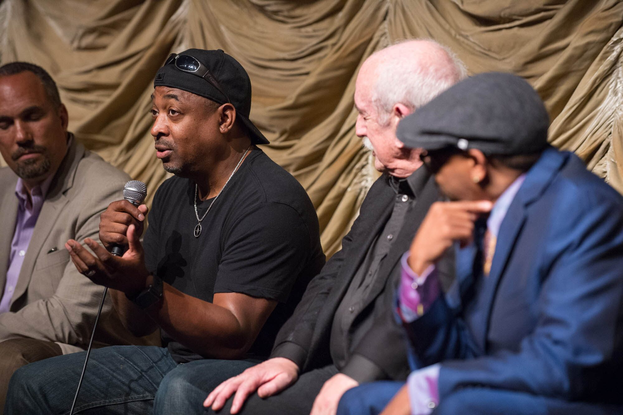 Roger Guenveur Smith, Chuck D, Tom Pollock and Spike Lee.