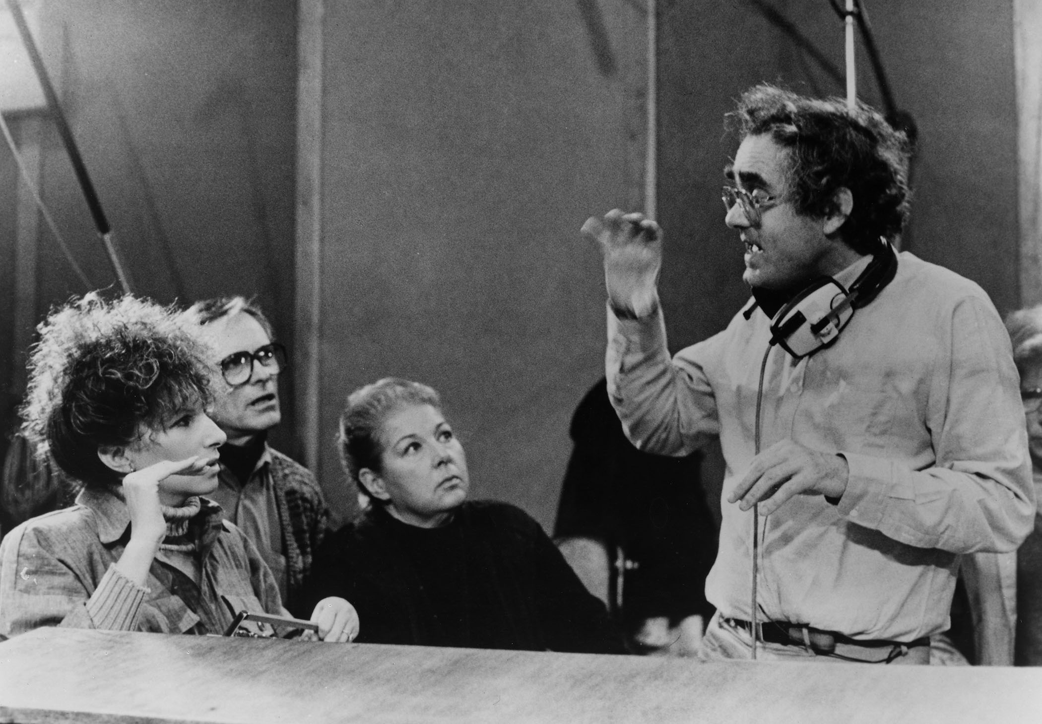 Barbra Streisand, Alan Bergman, Marilyn Bergman, and Michel Legrand