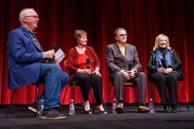 Left to right: Randy Haberkamp, Carol Coombs Mueller, Jimmy Hawkins, Karolyn Grimes
