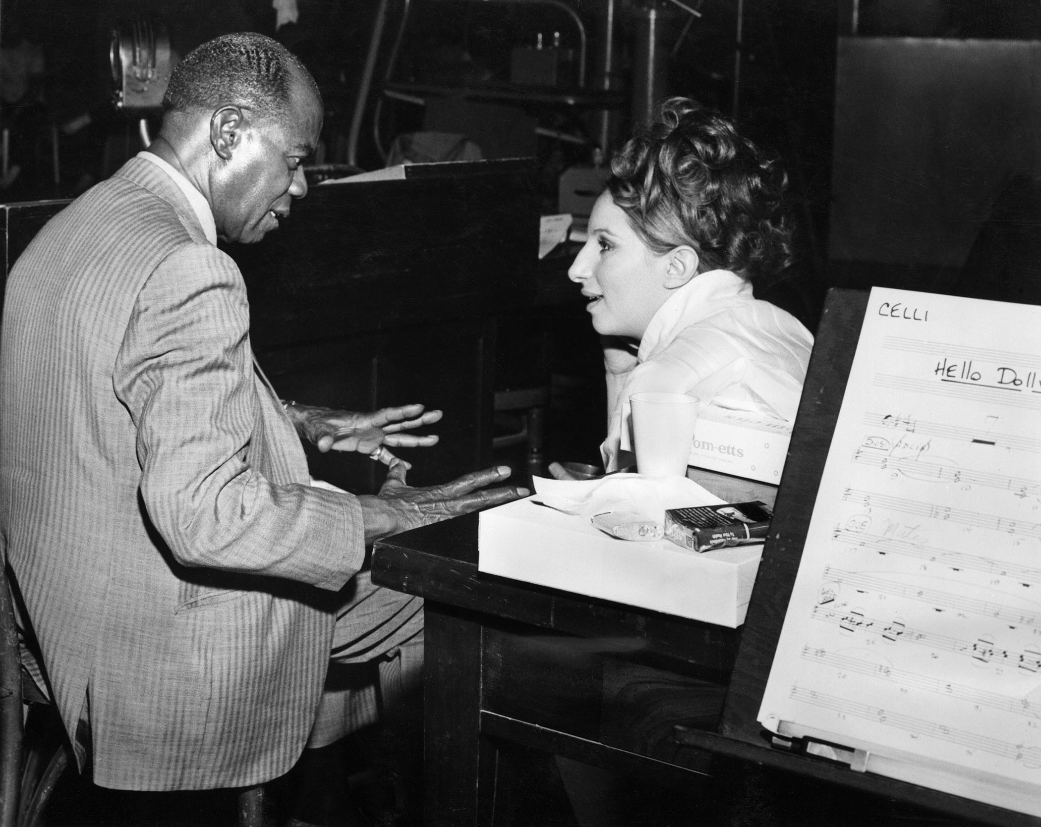 Barbara Streisand and Louis Armstrong