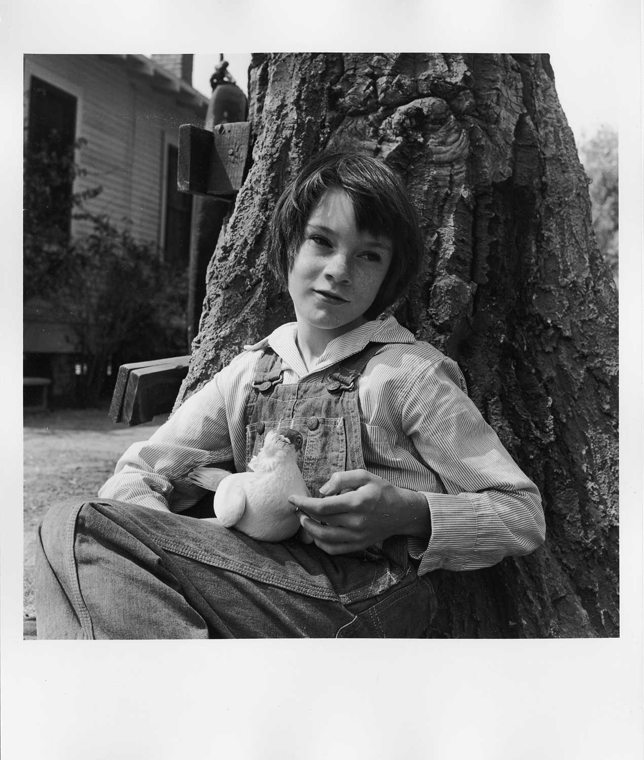 "Mary Badham during production of ""To Kill a Mockingbird"""