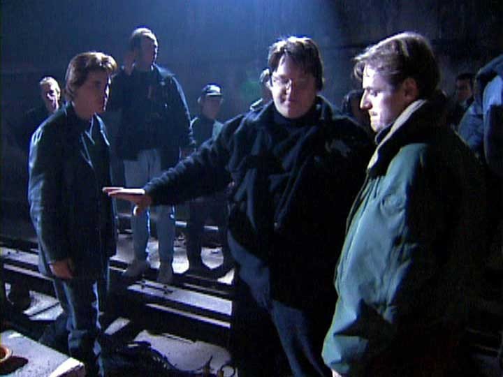 Guillermo del Toro directs Josh Brolin on the set of the 1997 film.