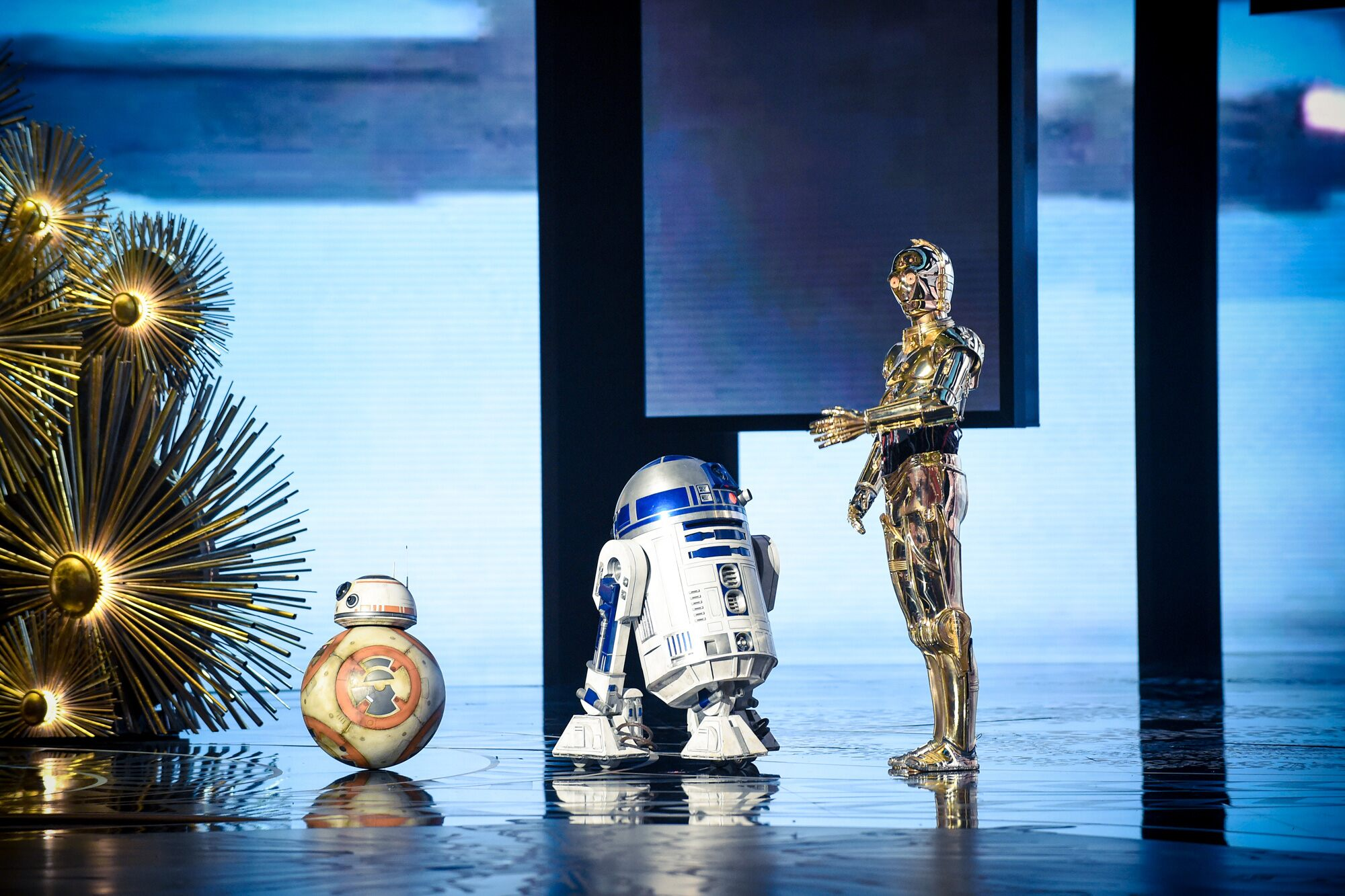 BB-8, R2-D2, C-3PO at The 88th Oscars®