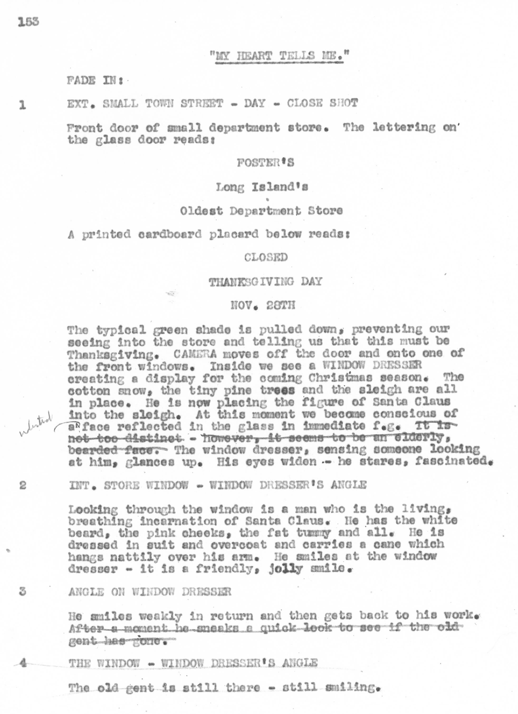 Early screenplay
