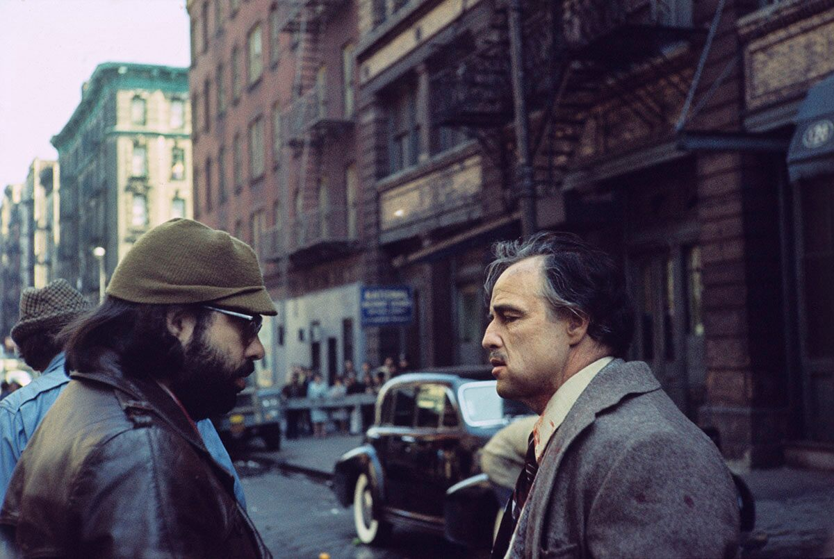 on the set of The Godfather