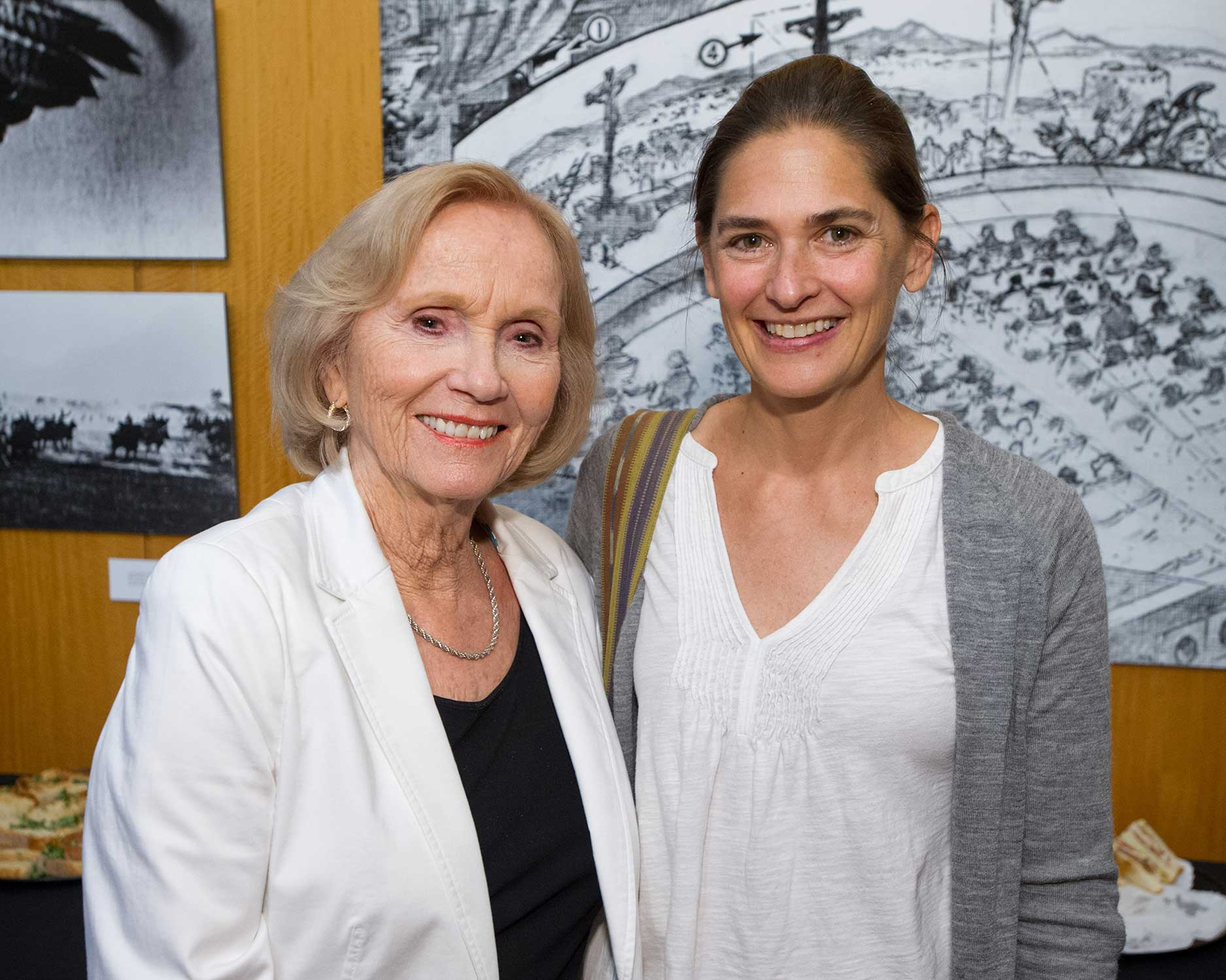 Oscar Winning Actress Eva Marie Saint and Jennifer Bass daughter of artist Saul Bass