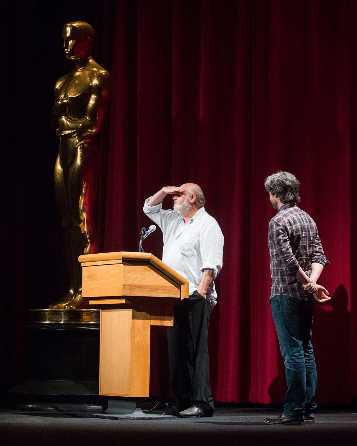 Oscar®-nominated producer/director/actor Rob Reiner (left) and Oscar-nominated writer/director Jason Reitman