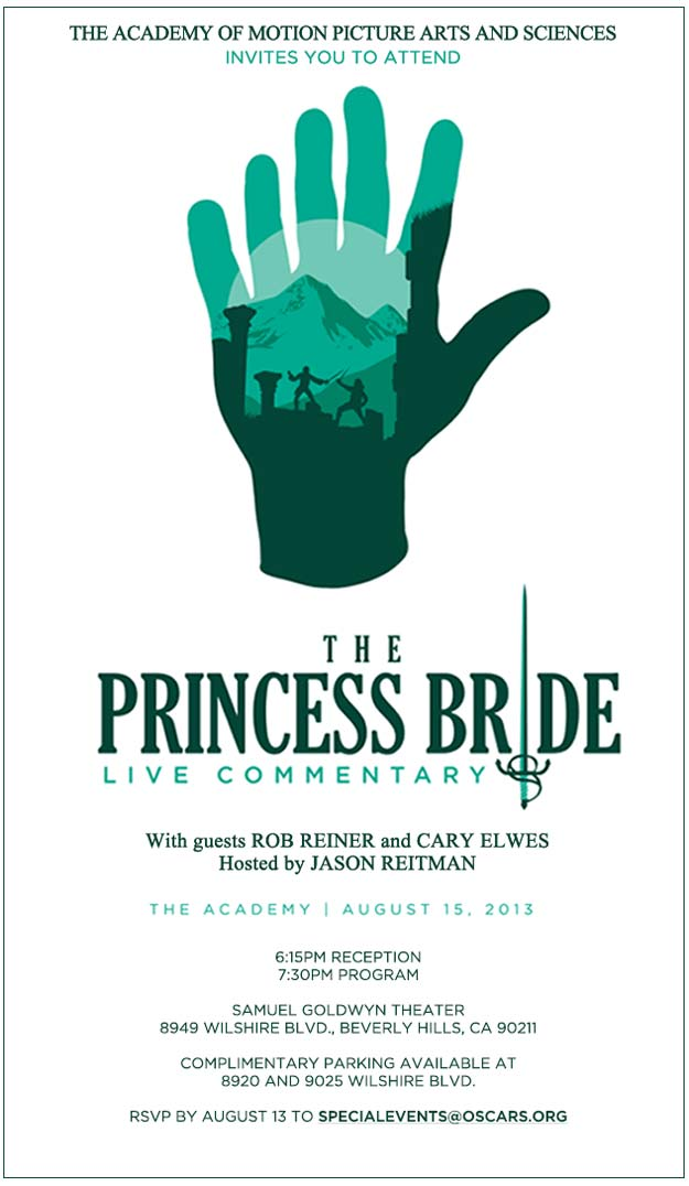 """The Princess Bride"" Live Commentary Poster"