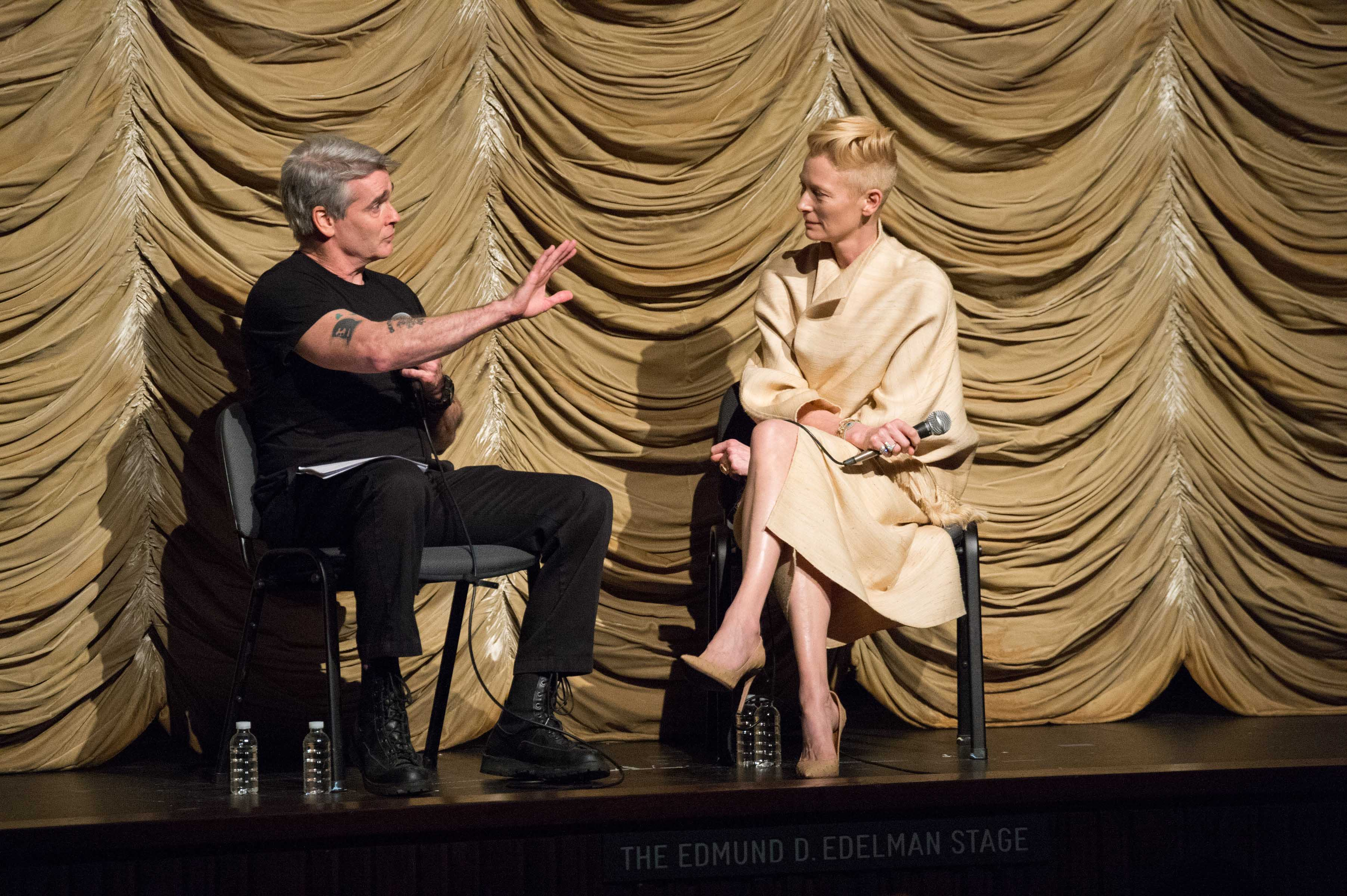 Post-screening guest: actor Tilda-Swinton, with host Henry Rollins