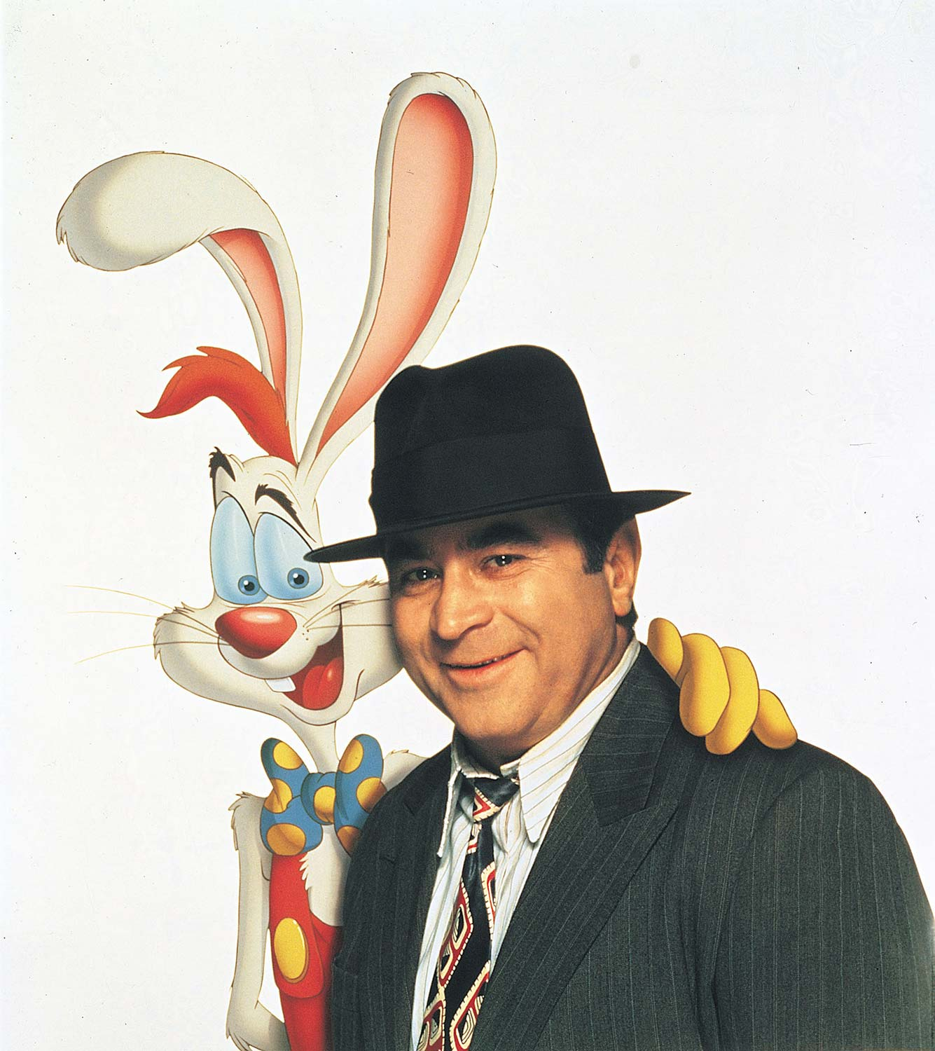 "Roger Rabbit and Bob Hoskins in ""Who Framed Roger Rabbit."""