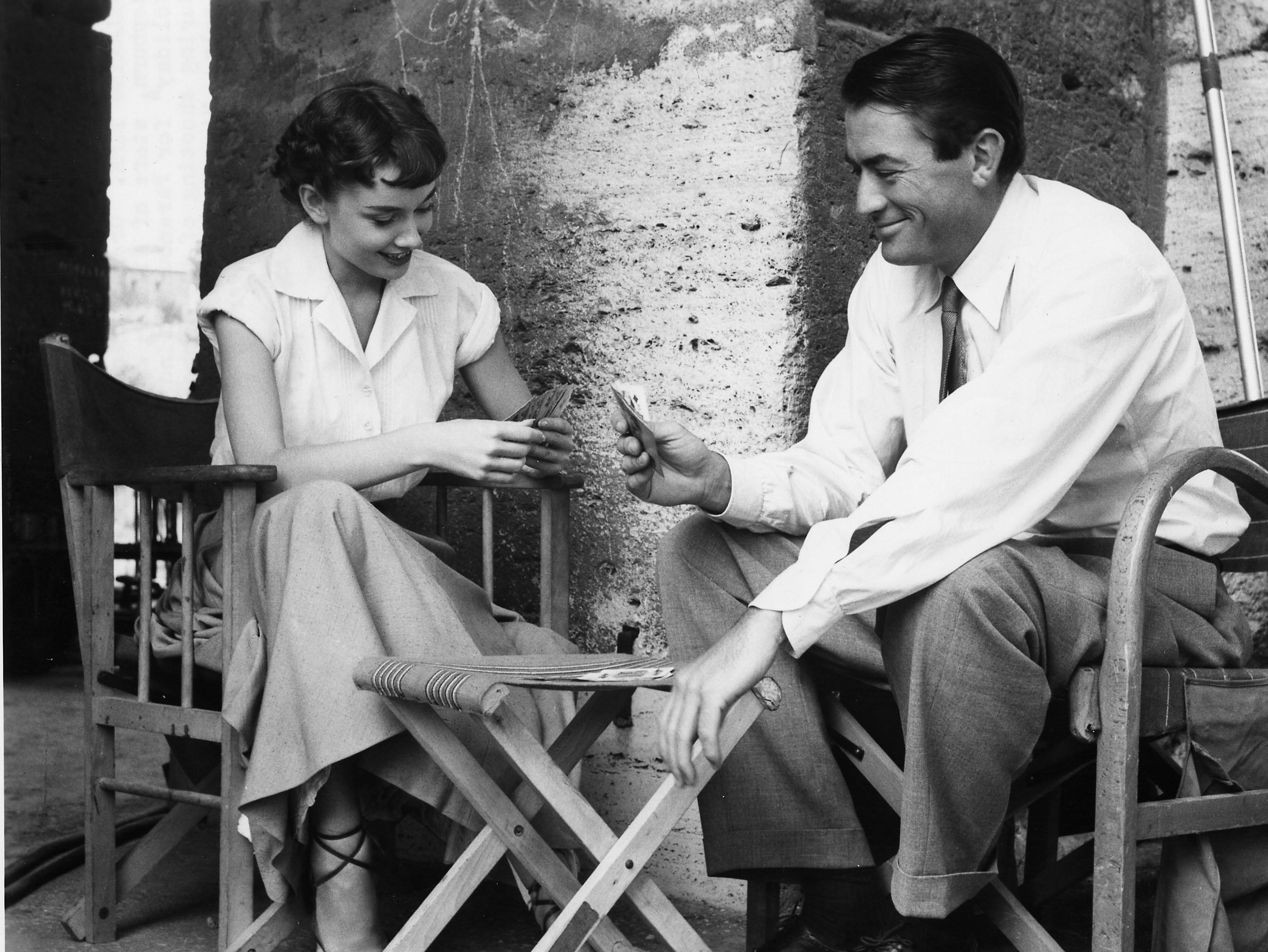 A Card Game with Audrey Hepburn and Gregory Peck