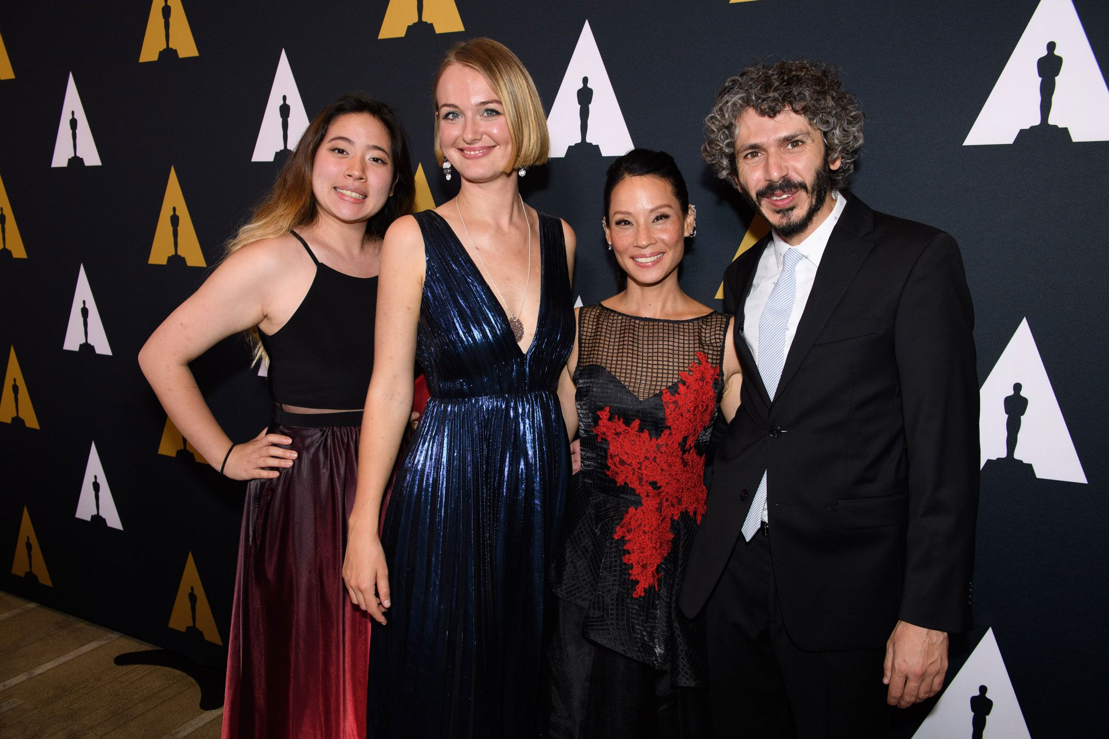(left to right): Echo Wu, Alicja Jasina, Lucy Liu and Ahmad Saleh.