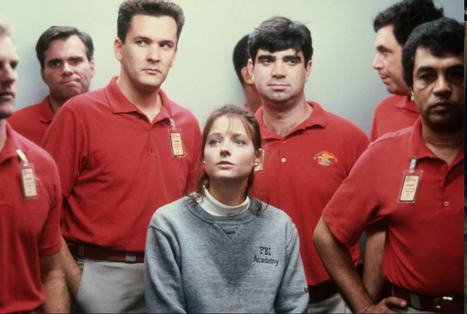 Jodie Foster and others in THE SILENCE OF THE LAMBS, 1991.