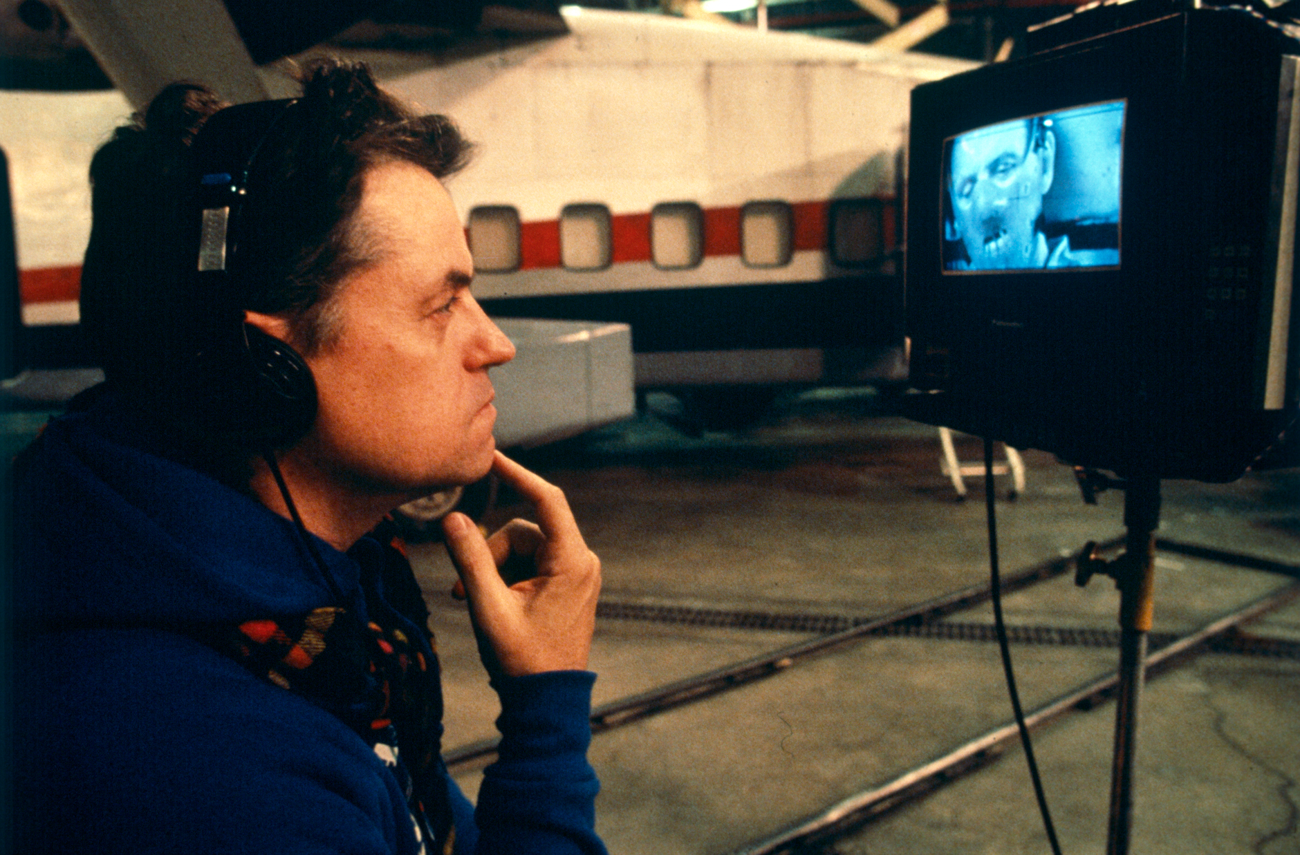 Director Jonathan Demme during production of SILENCE OF THE LAMBS, 1991.