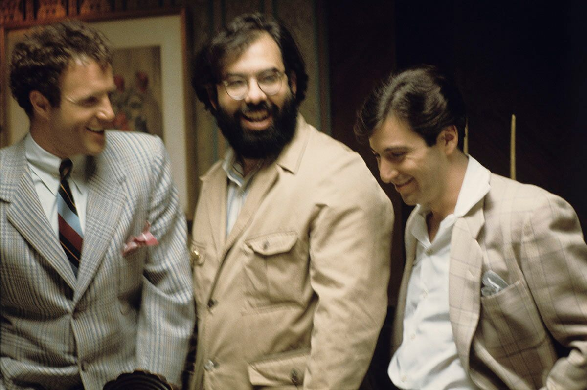 James Caan, Francis Ford Coppola, and Al Pacino