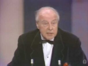 "John Houseman winning Best Supporting Actor for ""The Paper Chase"""
