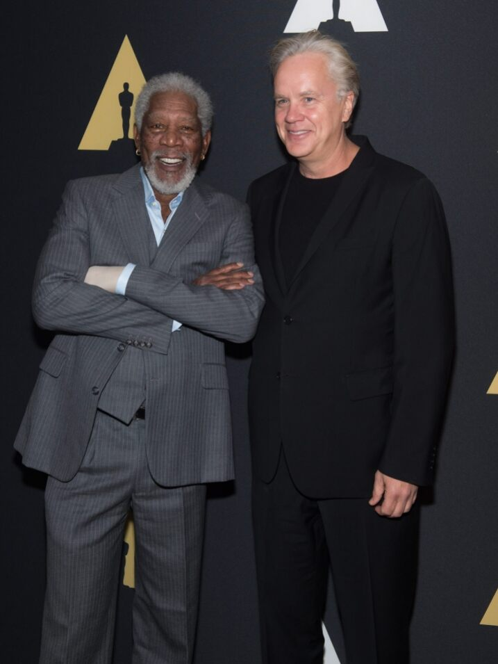 with Frank Darabont, Morgan Freeman and Tim Robbins