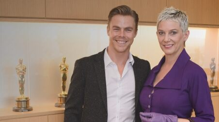 Dancer and choreographer Derek Hough and film historian Patricia Kelly, widow of Gene Kelly,