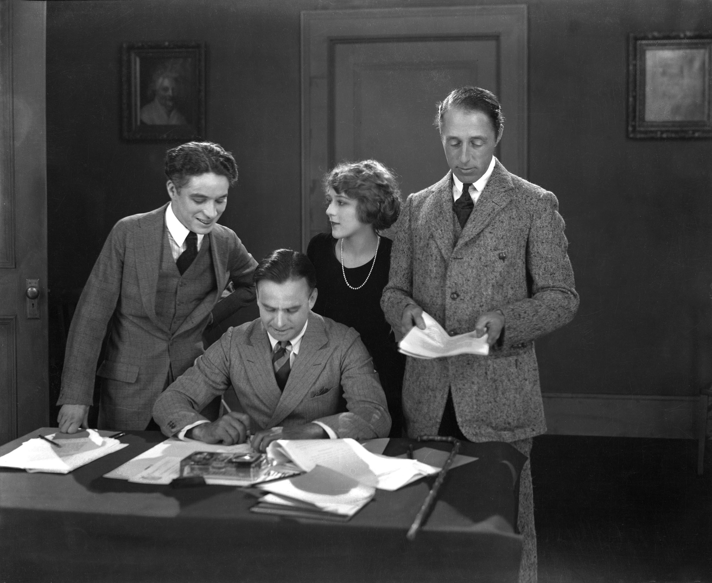 Douglas Fairbanks, Charles Chaplin, Mary Pickford and D.W. Griffith