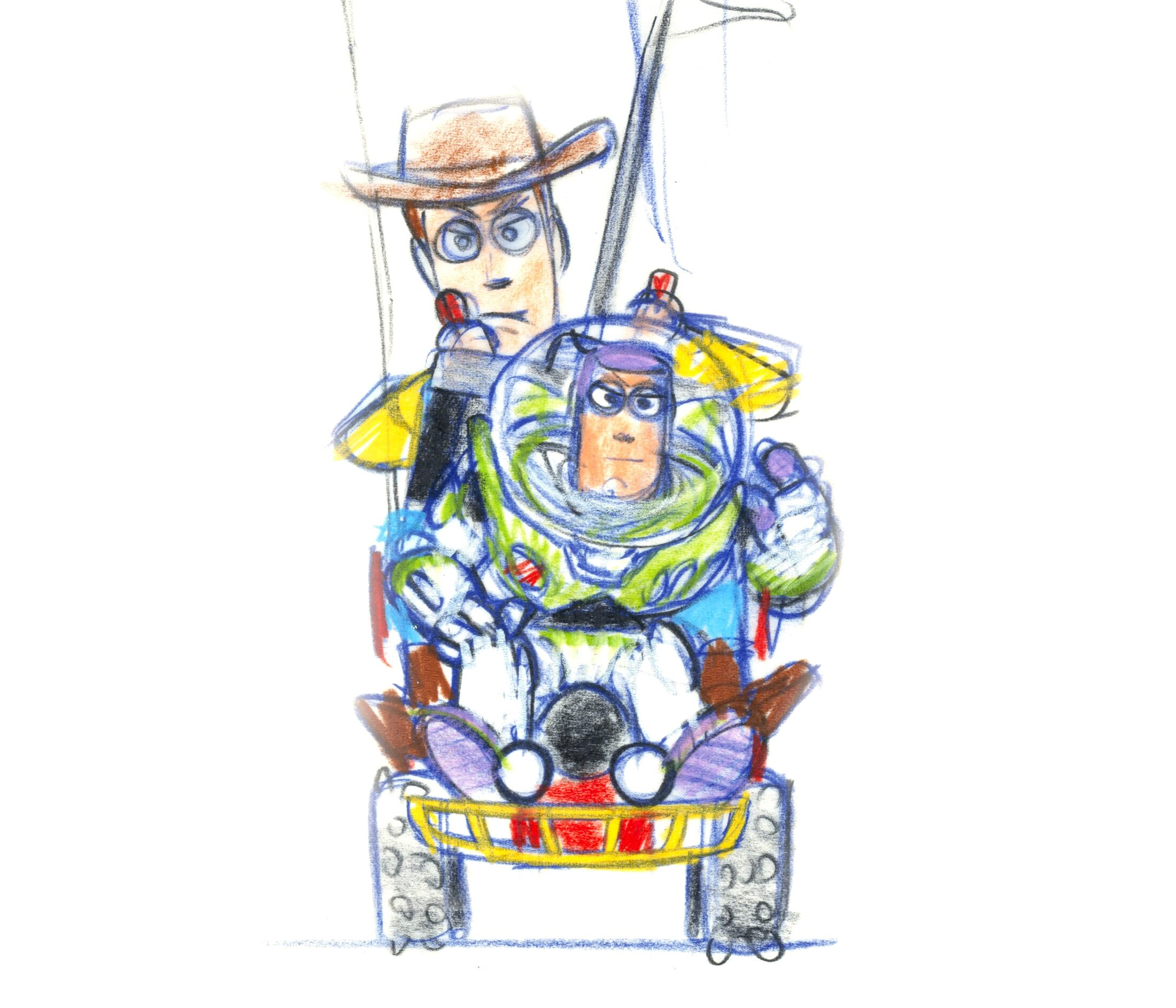 Buzz and Woody concept sketch